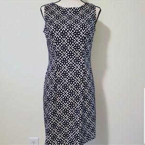 🍉 NWT Alyx Dress Blue White Tan Size 8